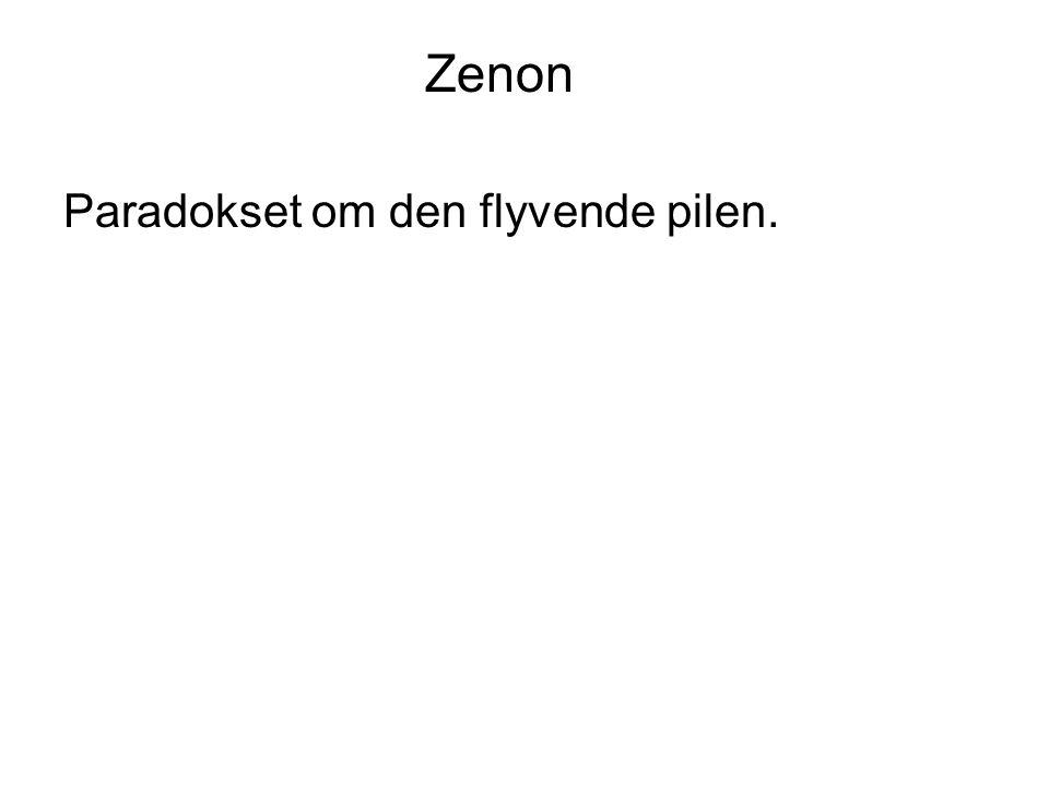 Zenon Paradokset om den flyvende pilen.