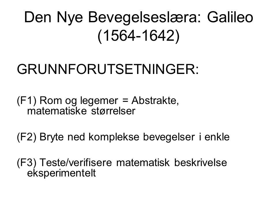 Den Nye Bevegelseslæra: Galileo (1564-1642)