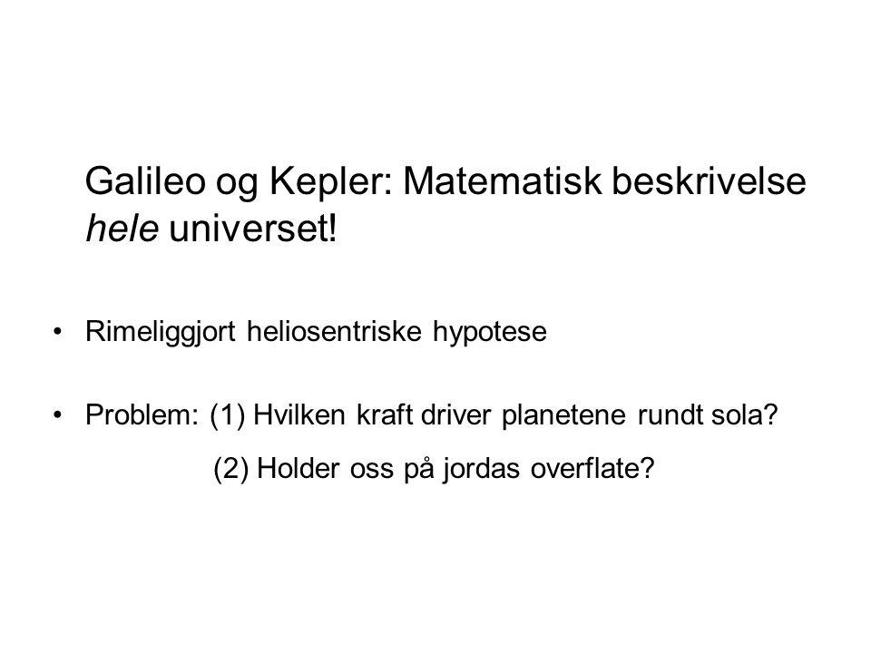 Galileo og Kepler: Matematisk beskrivelse hele universet!