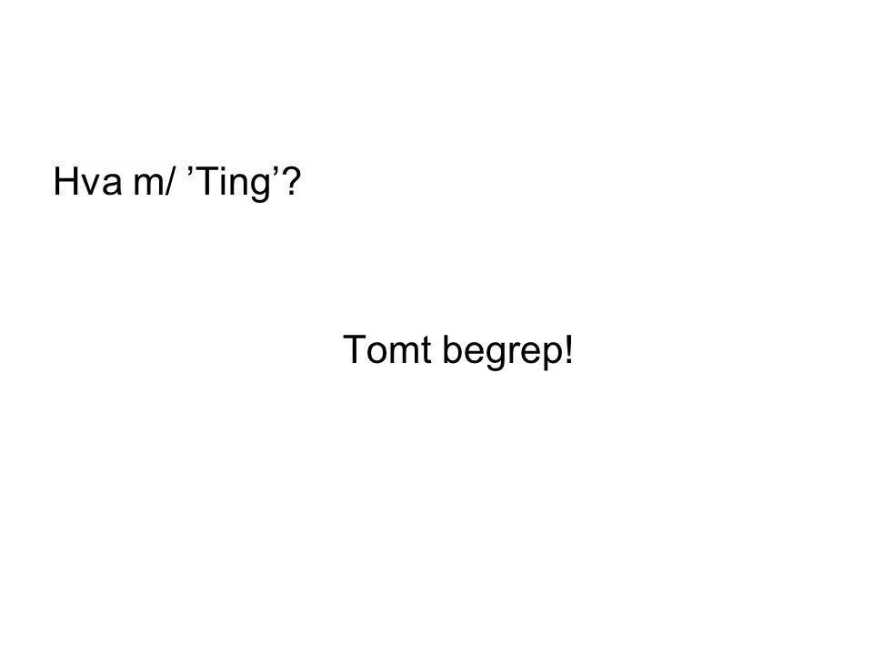 Hva m/ 'Ting' Tomt begrep!