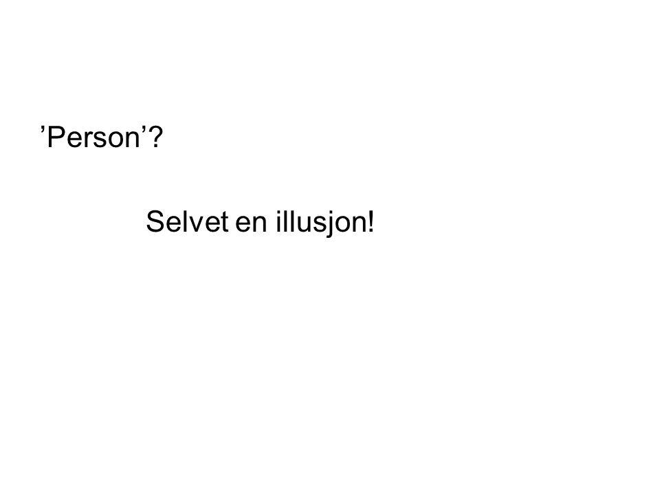 'Person' Selvet en illusjon!