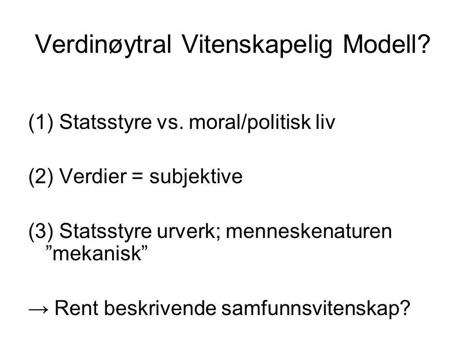 Verdinøytral Vitenskapelig Modell