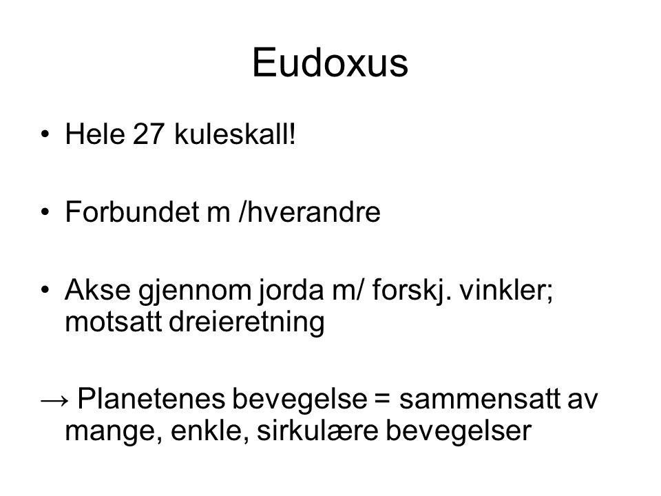 Eudoxus Hele 27 kuleskall! Forbundet m /hverandre