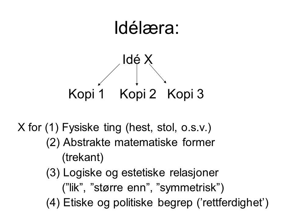 Idélæra: Idé X Kopi 1 Kopi 2 Kopi 3