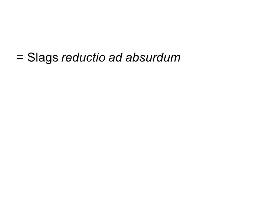 = Slags reductio ad absurdum