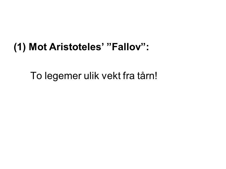 Mot Aristoteles' Fallov :