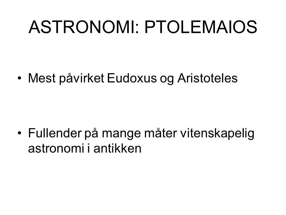 ASTRONOMI: PTOLEMAIOS