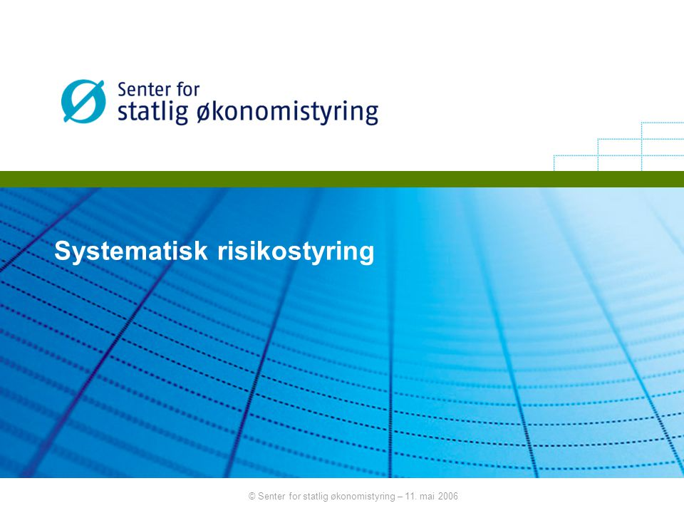 Systematisk risikostyring