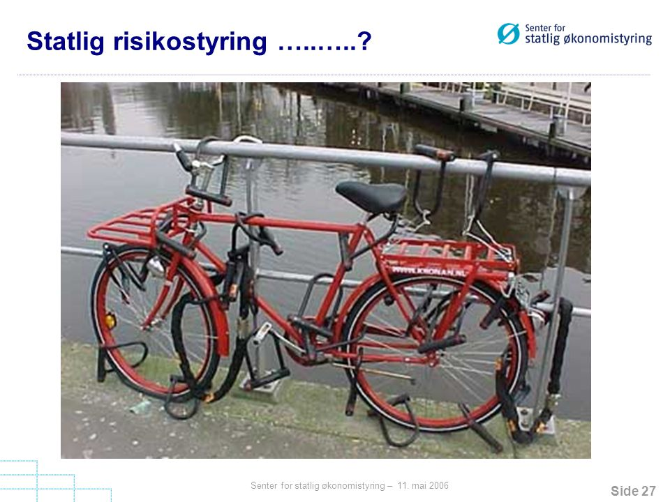 Statlig risikostyring …..…..