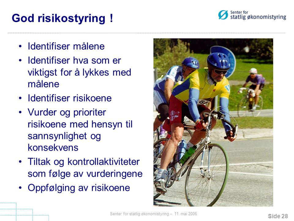 God risikostyring ! Identifiser målene