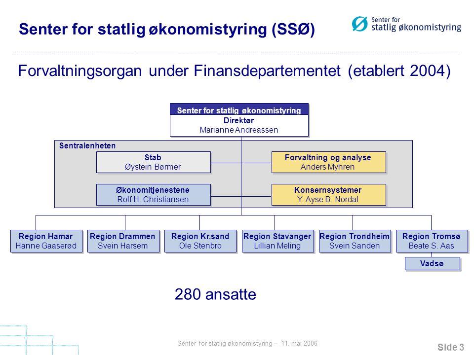 Senter for statlig økonomistyring (SSØ)