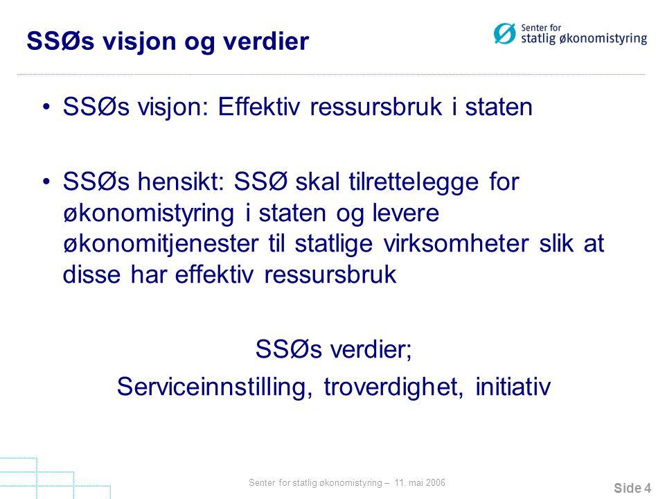 Serviceinnstilling, troverdighet, initiativ