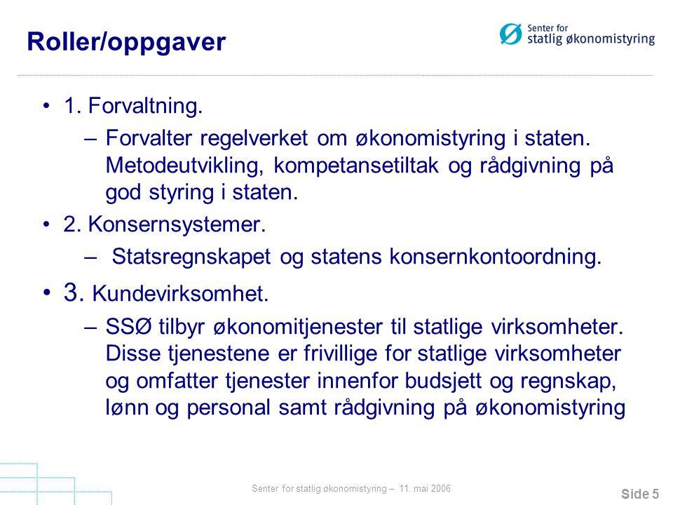 Roller/oppgaver 3. Kundevirksomhet. 1. Forvaltning.