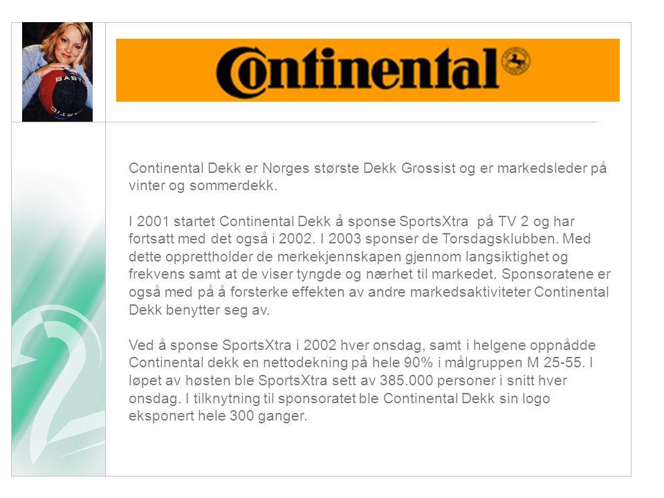 Sponsor case Continental Dekk