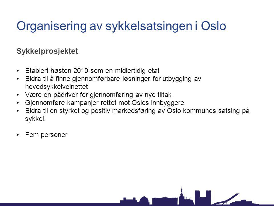 Organisering av sykkelsatsingen i Oslo