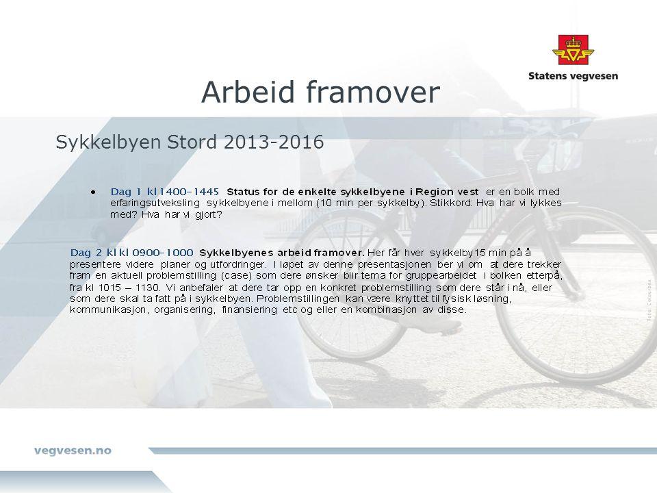Arbeid framover Sykkelbyen Stord 2013-2016