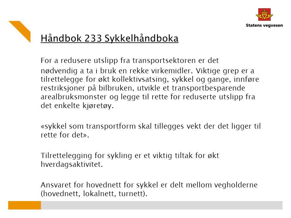 Håndbok 233 Sykkelhåndboka