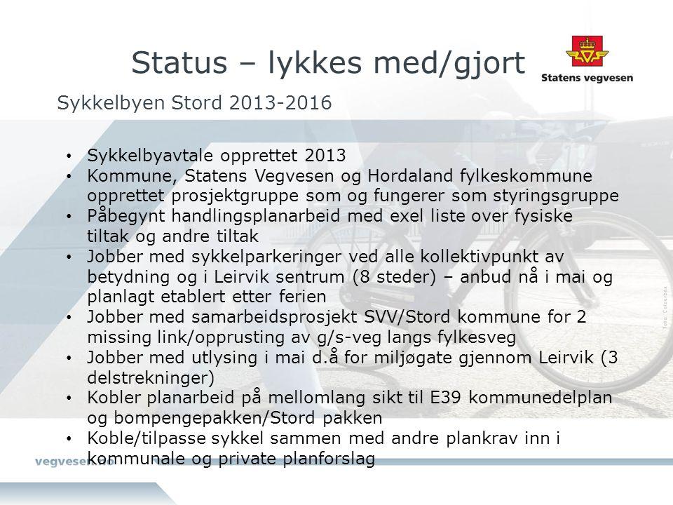 Status – lykkes med/gjort