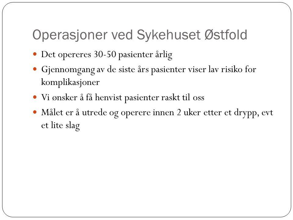 Operasjoner ved Sykehuset Østfold