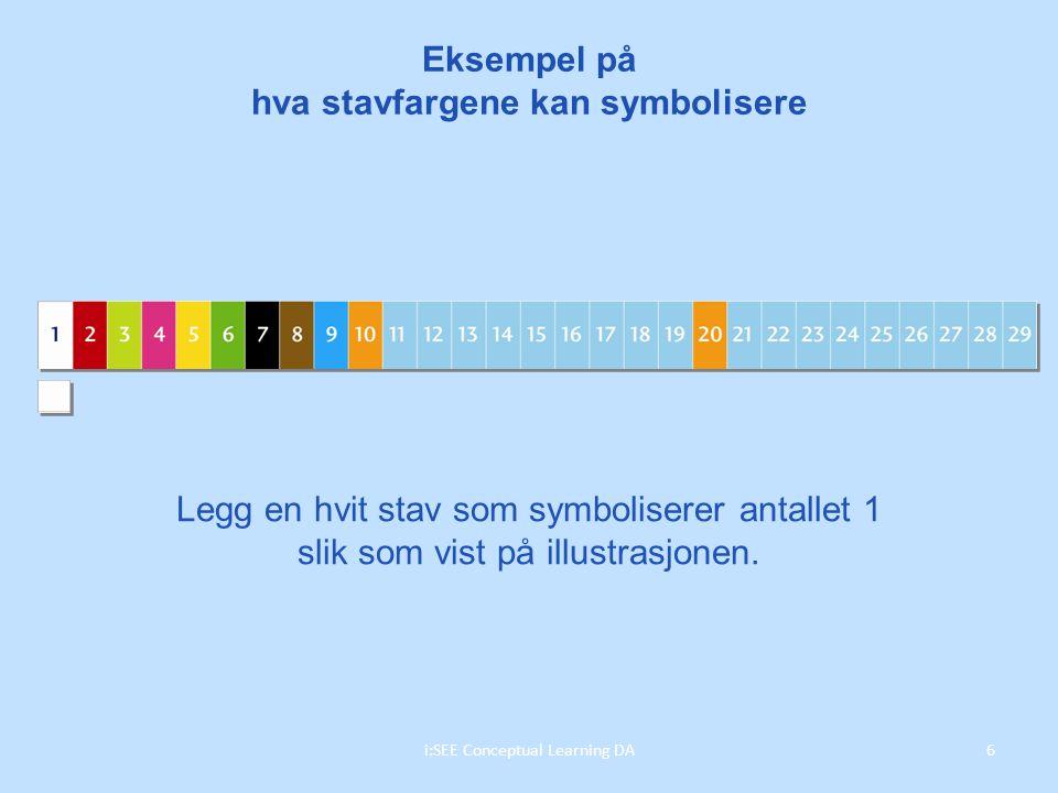 Eksempel på hva stavfargene kan symbolisere