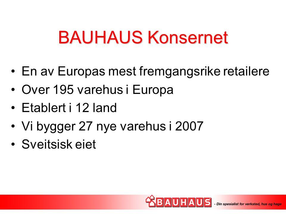 BAUHAUS Konsernet En av Europas mest fremgangsrike retailere