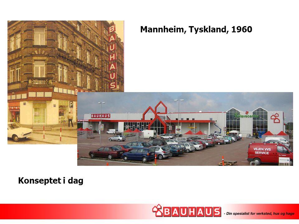 Mannheim, Tyskland, 1960 Konseptet i dag 1960: 600m2