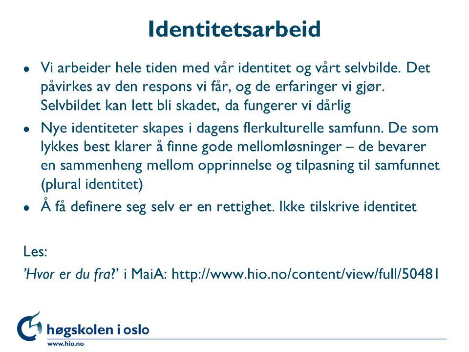 Identitetsarbeid