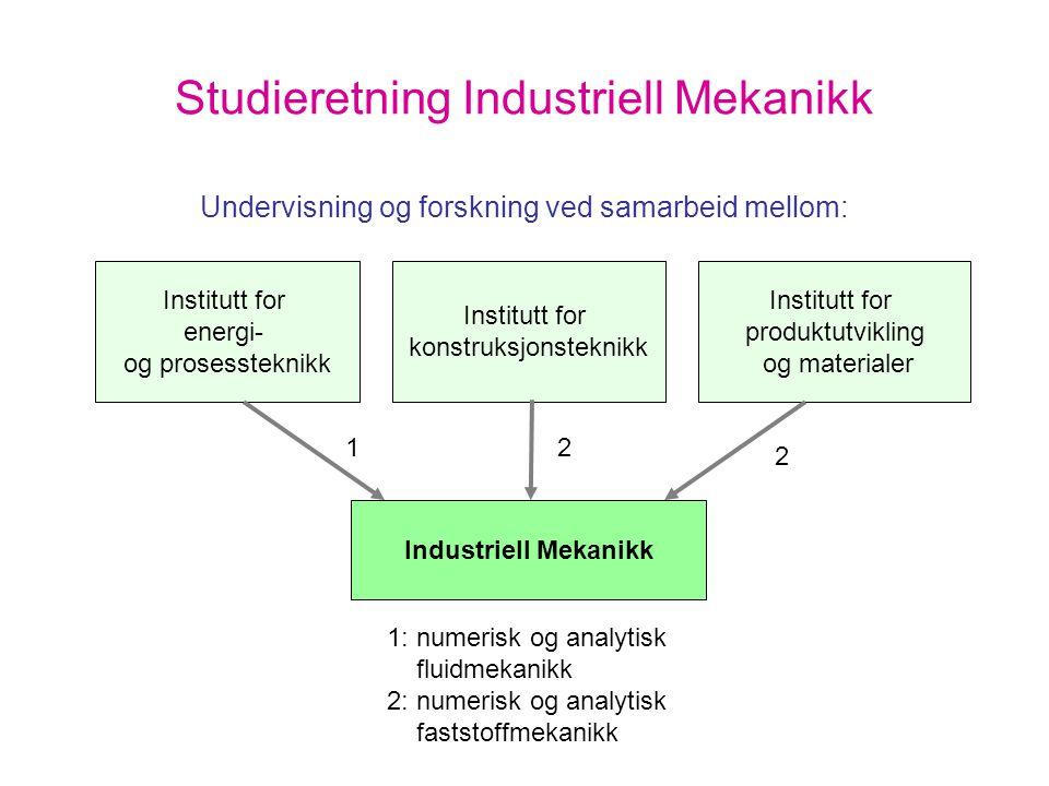 Studieretning Industriell Mekanikk