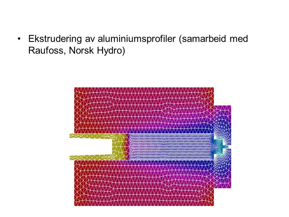 Ekstrudering av aluminiumsprofiler (samarbeid med Raufoss, Norsk Hydro)