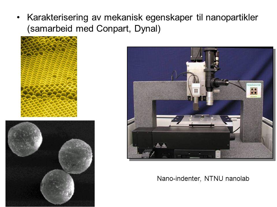 Karakterisering av mekanisk egenskaper til nanopartikler (samarbeid med Conpart, Dynal)