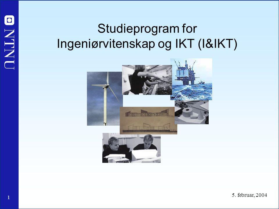 Studieprogram for Ingeniørvitenskap og IKT (I&IKT)