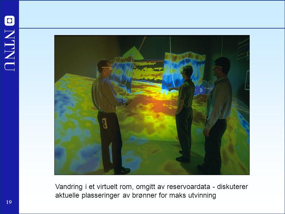 Vandring i et virtuelt rom, omgitt av reservoardata - diskuterer