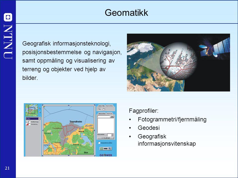 Geomatikk Geografisk informasjonsteknologi,