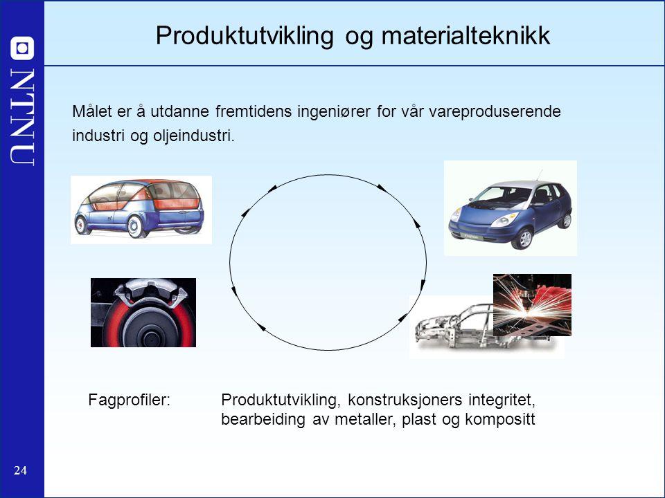 Produktutvikling og materialteknikk