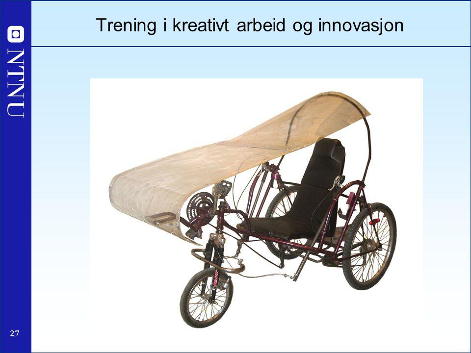 Trening i kreativt arbeid og innovasjon