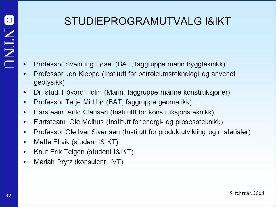 STUDIEPROGRAMUTVALG I&IKT