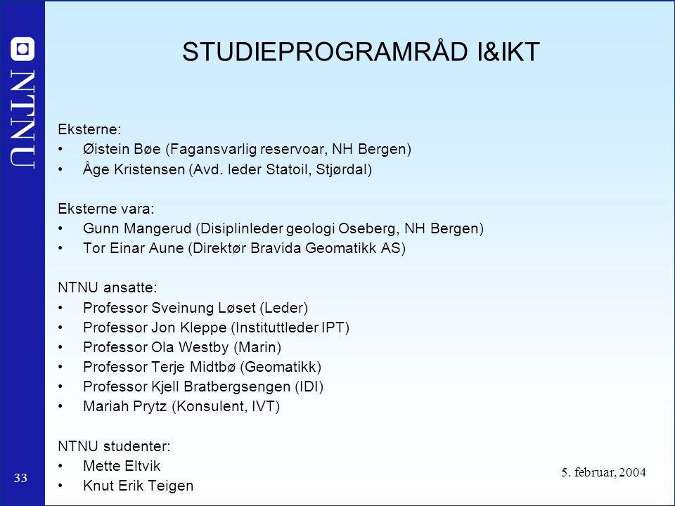 STUDIEPROGRAMRÅD I&IKT
