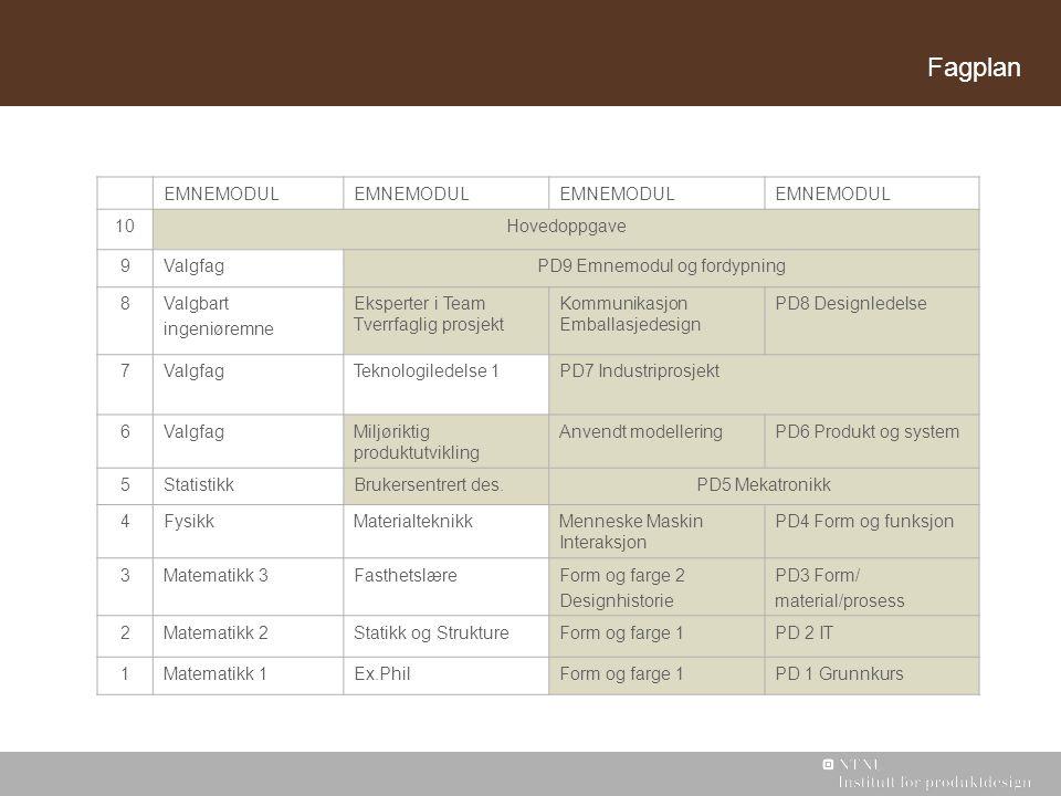 PD9 Emnemodul og fordypning