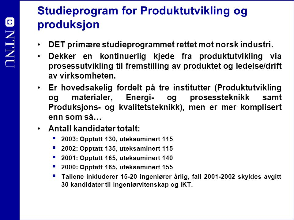 Studieprogram for Produktutvikling og produksjon
