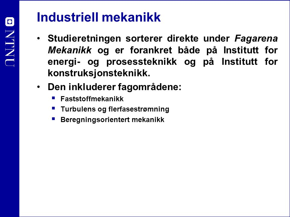Industriell mekanikk