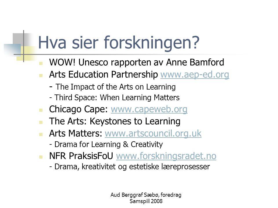 Aud Berggraf Sæbø, foredrag Samspill 2008