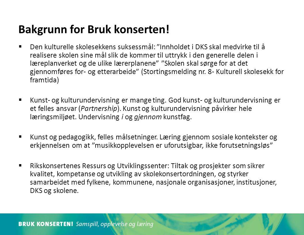 Bakgrunn for Bruk konserten!