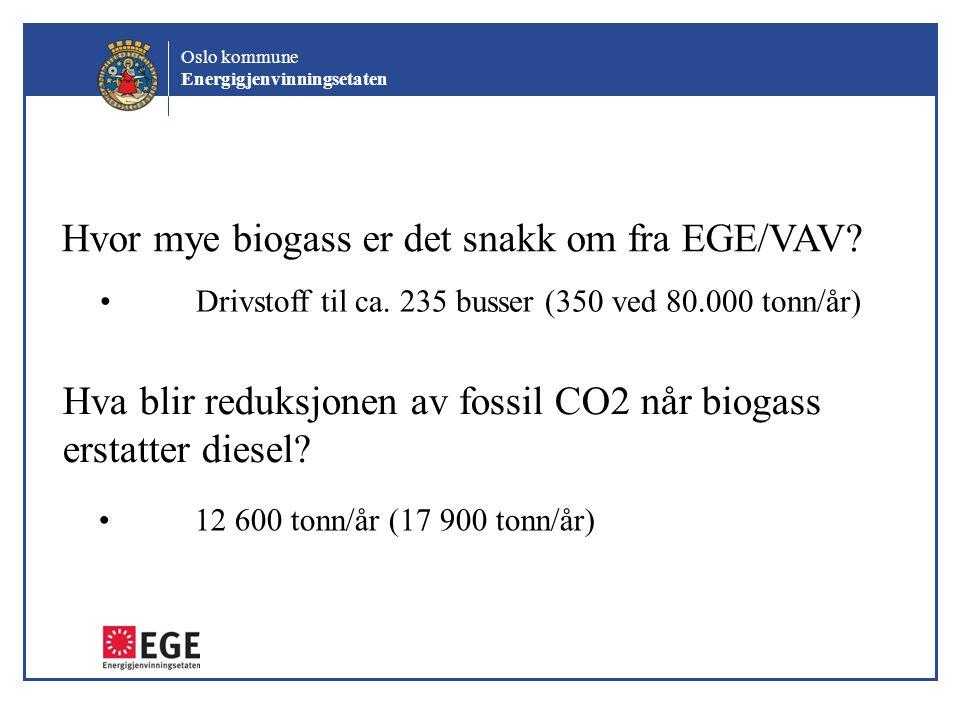 Hvor mye biogass er det snakk om fra EGE/VAV
