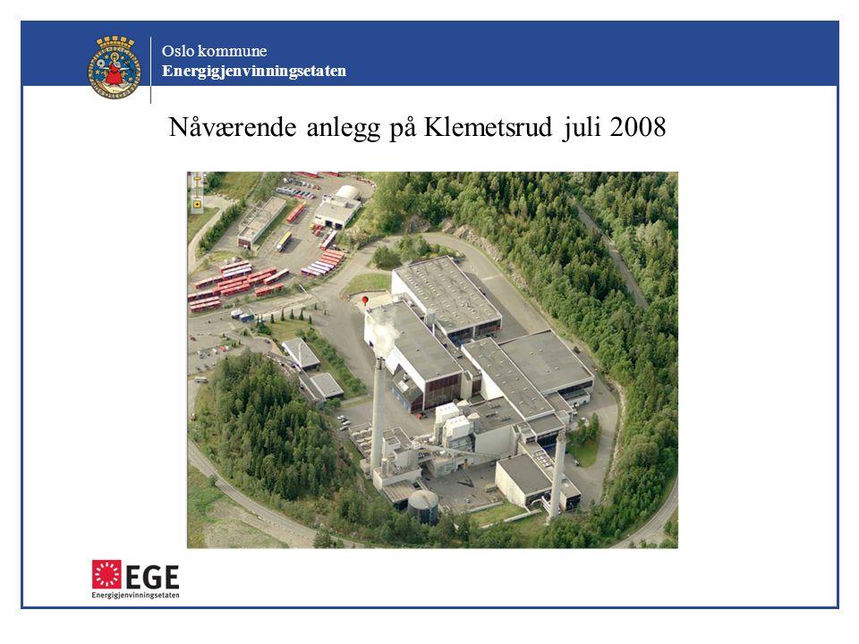 Nåværende anlegg på Klemetsrud juli 2008