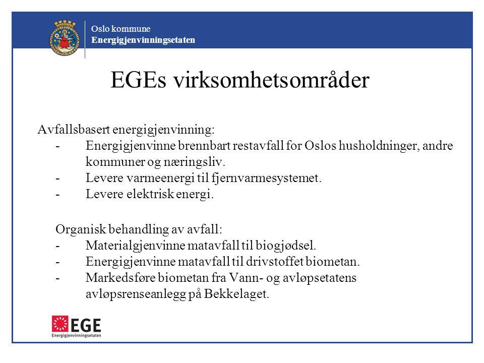 EGEs virksomhetsområder