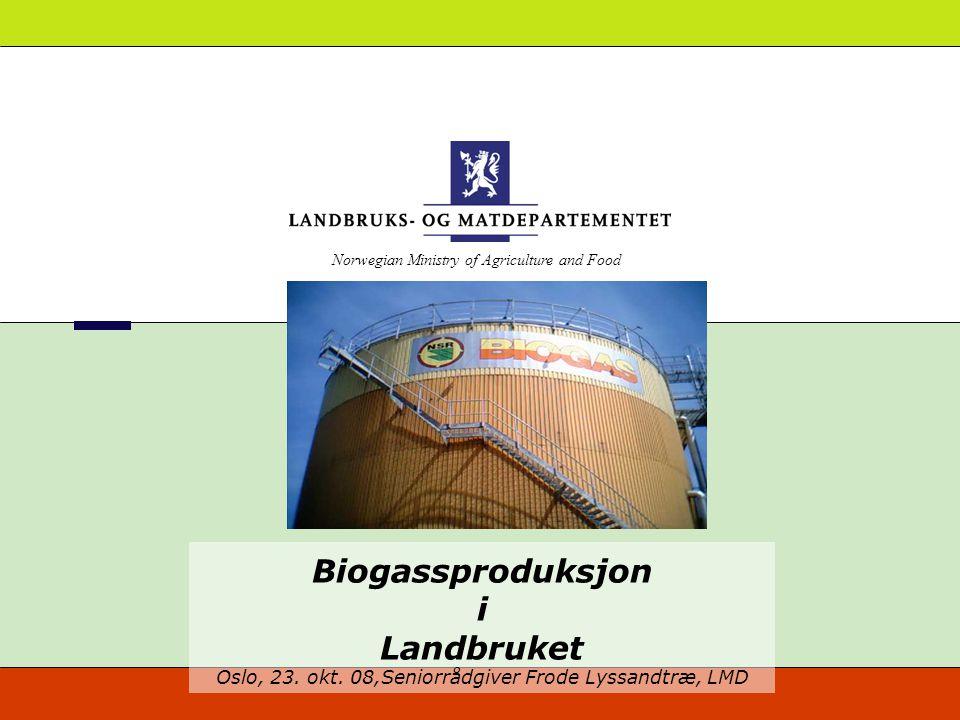 Biogassproduksjon i Landbruket Oslo, 23. okt