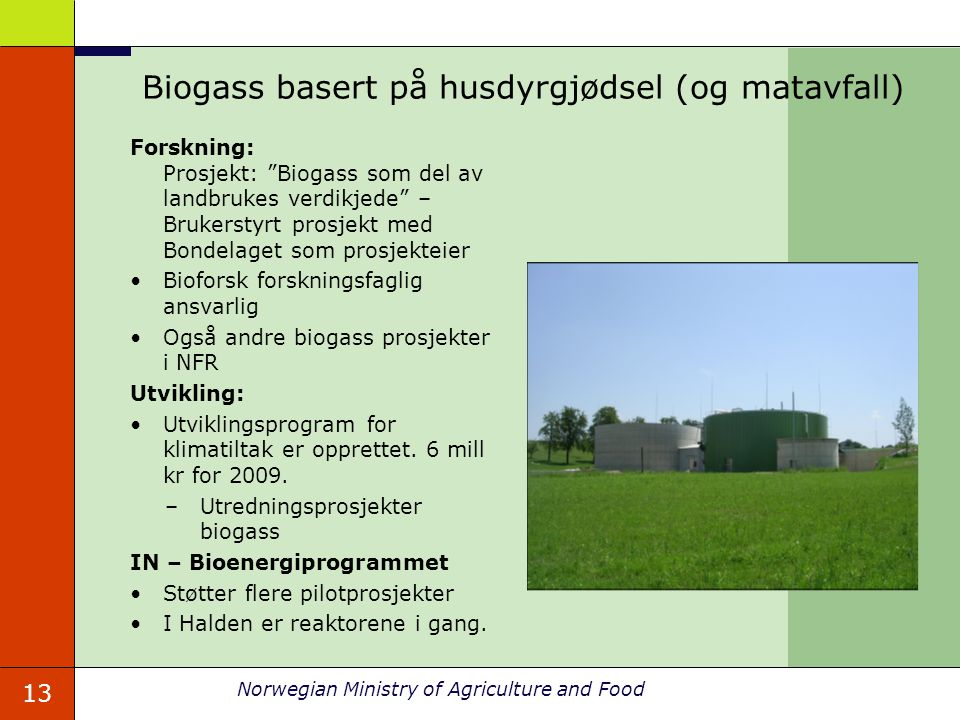 Biogass basert på husdyrgjødsel (og matavfall)
