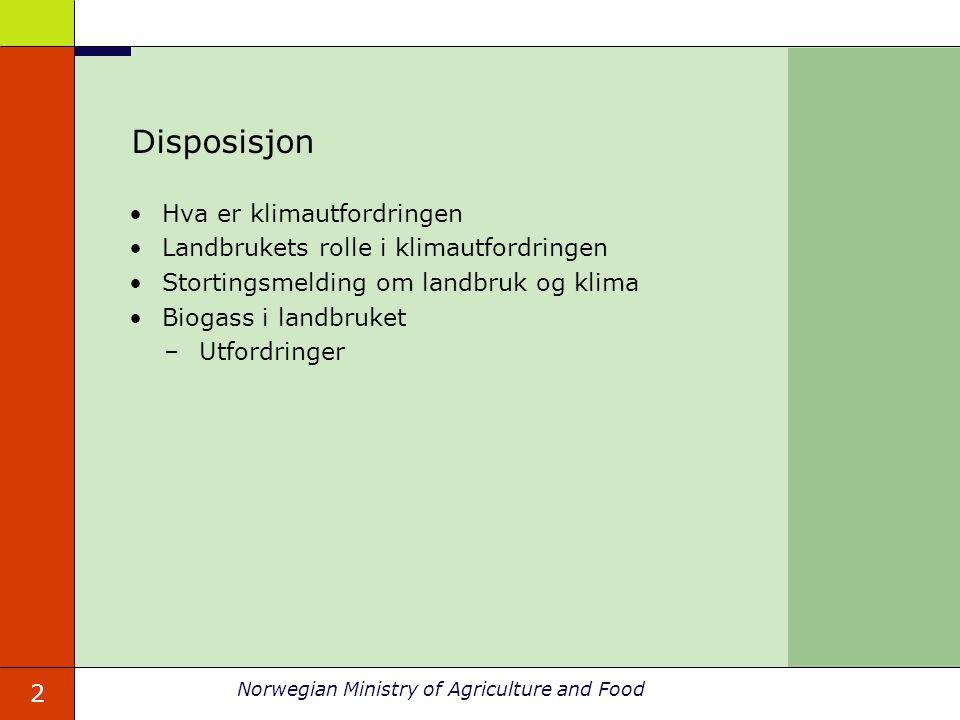 Disposisjon Hva er klimautfordringen
