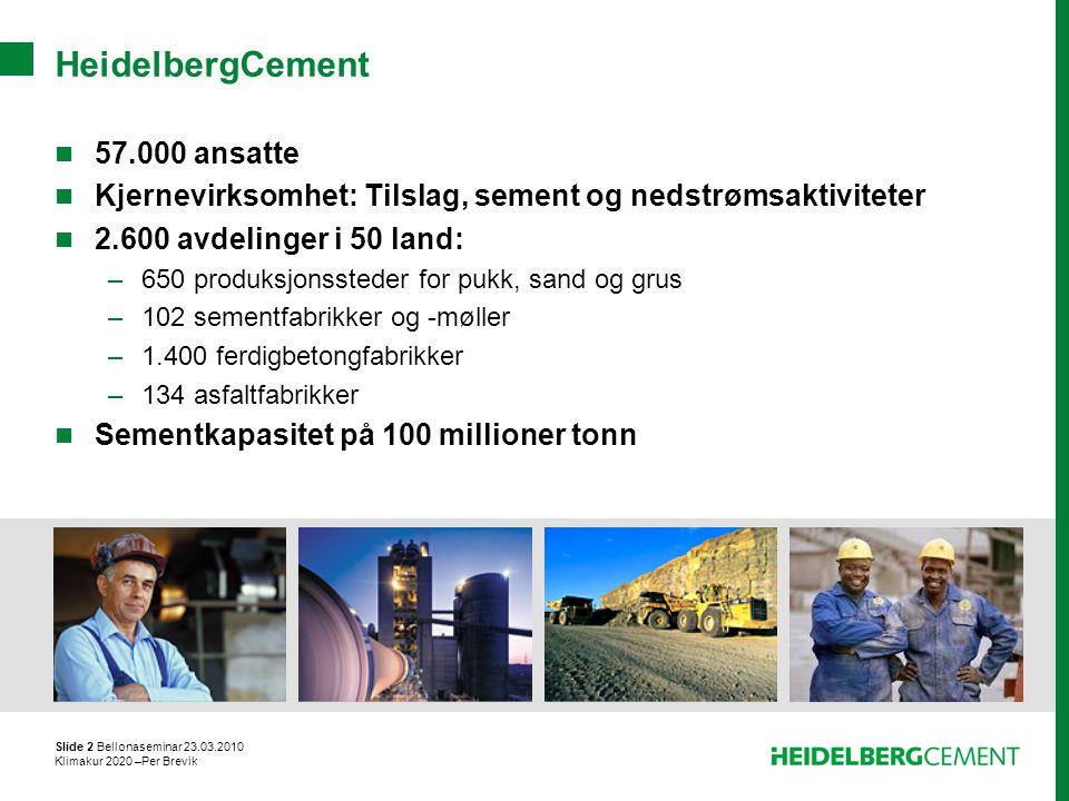 HeidelbergCement 57.000 ansatte
