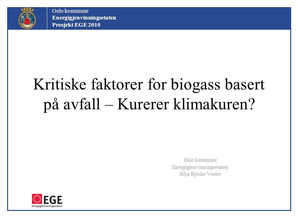 Kritiske faktorer for biogass basert på avfall – Kurerer klimakuren